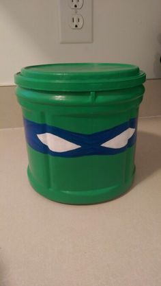 Ninja Turtle storage bin from Folgers Coffee Can