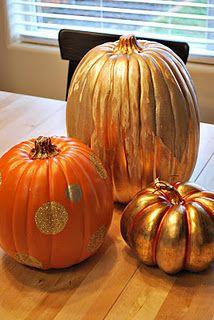 I love golden pumpkins, too!  :)