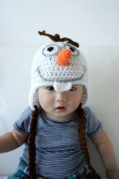 Olaf the Snowman Hat Snowman Baby Hat Baby Hat by stylishbabyhats