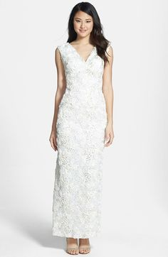Marina Sequin & Soutache Embellished Lace Gown available at #Nordstrom