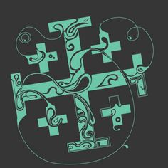 Pretty kairos cross possible tattoo idea