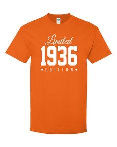1936 Limited Edition 80th Birthday Party Shirt by TeeHeeHeeShirt