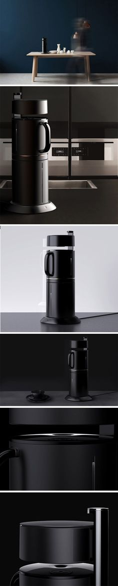 MiO is a taller, slimmer coffee maker compared to today's current bulky, round ones. It's vertical design is made possible thanks to its clever inverted construction. The water reservoir is located on the bottom and drip mechanism on top. #CoffeeMaker