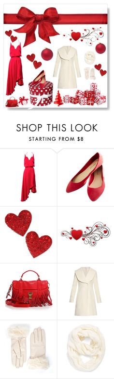 """Red Christmas I gave you my heart ..."" by nescio ❤ liked on Polyvore featuring Zimmermann, Wet Seal, Dorothy Perkins, Proenza Schouler, J.W. Anderson, Echo, redandwhite, Christmas2015 and nescio"