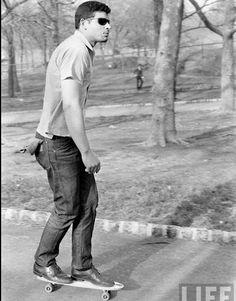 Skateboarder from 1960's looks like time traveler from 2013