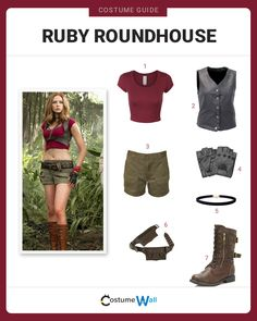 The best costume guide for dressing up like Ruby Roundhouse, the avatar of Martha appearing in the movie, Jumanji: Welcome to the Jungle.