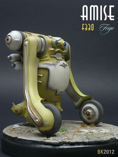 Futuristic Robots 1:20 scale model Amise F330 Frigo by Brian Krueger. Pinned by #relicmodels