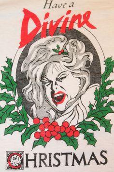 Vintage 1981 DIVINE Christmas screen stars t shirt * john waters movie