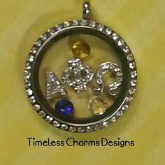 Would love to add letters, colors, or symbols with my origami owl necklace! Represent!
