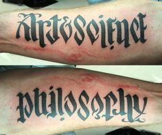 art & science | philosophy tattoo