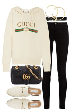 A fashion look from April 2017 featuring gucci hoodie, super skinny jeans and backless loafers. Browse and shop related looks. Gucci Outfits, Kpop Fashion Outfits, Girls Fashion Clothes, Retro Outfits, Classy Outfits, Outfits For Teens, Chic Outfits, Trendy Outfits, Bts Inspired Outfits