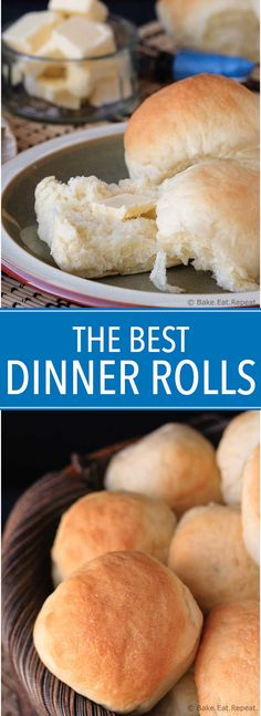 The Best Dinner Rolls - Easy to make dinner rolls that are soft and fluffy and absolutely perfect! You will never need another dinner roll recipe. These are fairly fast to make, plus they freeze well so making a double or triple recipe is a must!