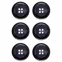 Classic Shape 4 Holes Mibo Urea Horn Suiting Button Dark Brown 40 Line