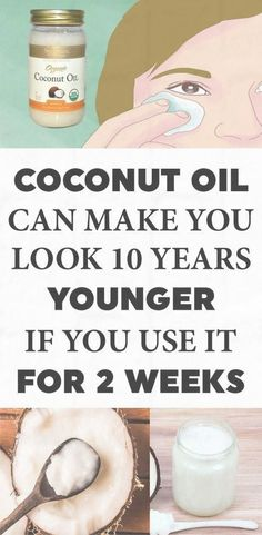 Coconut Oil Can Make You Look 10 Years Younger If You Use It For at Least 2 Weeks This Way! - The Real Healthy Thing- Younger. Coconut oil[ See More ] Cellulite Cream, Anti Cellulite, Cellulite Remedies, Eye Treatment, Beauty Hacks For Teens, Coconut Oil For Face, Coconut Oil For Lashes, Uses For Coconut Oil, Health Tips