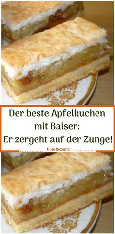 The best apple pie with meringue: it melts on the tongue! - Cream dessert cake pies - The best apple pie with meringue: it melts on the tongue! Easy Cake Recipes, Tea Recipes, Cookie Recipes, Dessert Recipes, Chocolate Cake Recipe Easy, Chocolate Desserts, Tupperware, Best Apple Pie, Apple Pies