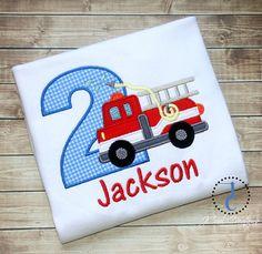 Fire Truck Birthday Shirt  Fire Truck Birthday by jcoolcreations, $26.00