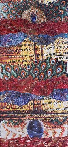 sikhchic.com   The Art and Culture of the Diaspora   The Gilded Cage - The Textile Art of Amarjeet Kaur Nandhra
