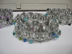 Recycled pop-top bracelett created by Marye Bird passionatlycrafty.blogspot.com