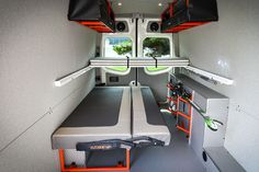 Sleeping and Sofa options - Outside Van