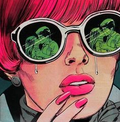 ☮✿★ POPART ✝☯★☮A woman crying because she sees the love that used to be hers.