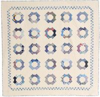 Check out this beautiful challenging quilt pattern: Bow Tie Blues by Georgina B Fries in the April/May 2014 issue of Quilters Newsletter!