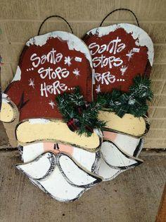 . Christmas Craft Fair, Christmas Wood Crafts, Christmas Signs, Rustic Christmas, Holiday Crafts, Christmas Holidays, Christmas Ornaments, Santa Crafts, Christmas Ideas