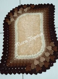 Discussion on LiveInternet - Russian Service Online Diaries Crochet Dollies, Crochet Granny, Filet Crochet, Crochet Carpet, Oval Rugs, Jacob's Ladder, Crochet Decoration, Bathroom Sets, Rug Runner