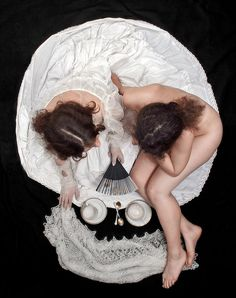 affairemortal: Serge N. Kozintsev, Утренний чай, (Morning Tea). Way cool photo.