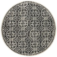 @Overstock.com - Safavieh Handmade Moroccan Cambridge Black Wool Rug (4' Round) - This round wool area rug provides a versatile and stylish highlight for any indoor area. Durable crafted with a black color scheme and a contemporary take on a classic oriental pattern, this handsome area rug makes a stately addition to your decor.  http://www.overstock.com/Home-Garden/Safavieh-Handmade-Moroccan-Cambridge-Black-Wool-Rug-4-Round/7745561/product.html?CID=214117 $67.49