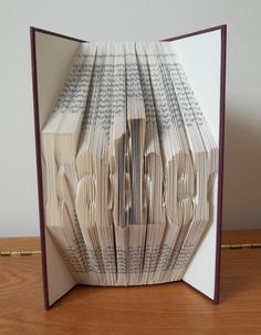 Folded Book Art - Father - Book Sculpture - Unique Gift - Valentine Gift - Birthday Gift - Fathers Day Gift - Book Lover - pinned by pin4etsy.com