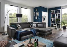 """Reprezentativní sedací souprava z prémiové řady Komfort Modular. Dostupná v látkovém i celokoženém provedení. Konfigurovatelná jako samostatné sofa, různé rohové varianty a nebo sestavy do tvaru """"U"""". Polohovatelné opěrky hlavy s jemným rastrovým mechanismem u každého opěradla již ve standardu. Recliner, Lounge, Couch, Chair, Furniture, Pause, Home Decor, New Week, Summer"""