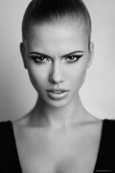 black and white photo - #model