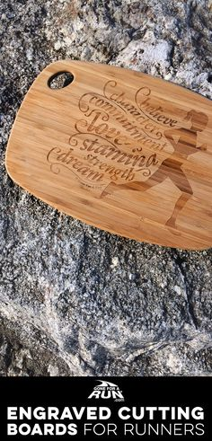 Our engraved cutting boards are perfect for any chef for a passion for running! Get your daily dose of running motivation while you whip up some of your favorite pre-run or post-run meals!