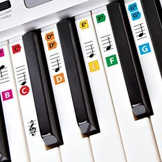 Best Reusable Color Piano Key Note Keyboard Stickers for Adults & Childrens Lessons FREE E-BOOK Great for Beginners Sheet Music Books Recommended by Teachers to Learn to Play Keys & Notes Faster http://ift.tt/2k4u2kJ