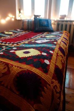 Vintage Uzbek Suzani by Ikatland on Etsy, $199.00