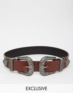 Reclaimed | Reclaimed Vintage Western Double Buckle Belt at ASOS