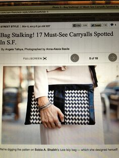 Our Fall 13 Moti Herringbone and Calf leather clutch on Refinery29 today. #fashion # style #isly #moti #herringbone #calf #leather #clutch #fall13 #love #elated #refinery29 #islyhandbags