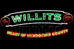 Willits Sign in Neon | Flickr - Photo Sharing!