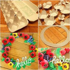 It always amazes me what creative ideas people come up with! You can do this one with your children or with pupils if you are a teacher. Make an Anzac Day wreath from egg cartons! Remembrance Day Activities, Remembrance Day Poppy, Poppy Craft For Kids, Art For Kids, Spring Art, Spring Crafts, Poppy Wreath, Diy And Crafts, Crafts For Kids