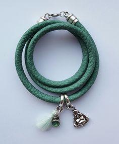 Turquoise wikkelarmband