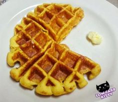 PUMPKIN low carb Waffle with 3/4 c pumpkin, 1 c. almond flour, half-n-half, and a few other things. Yum!