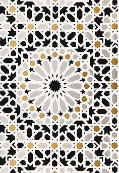 "Nasrid Palace Mosaic  Mica        Wallcovering SKU - 5005961      Match - Straight      Width - 20.5""      Horizontal Repeat - 20.5""      Vertical Repeat - 20.5"""