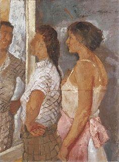 """Fausto Pirandello - """"Donne allo specchio"""" 1935"""