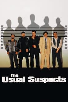 Kevin Spacey, Stephen Baldwin, Gabriel Byrne, Benicio Del Toro, and Kevin Pollak in The Usual Suspects Kevin Spacey, Gabriel Byrne, Clint Eastwood, The Usual Suspects Movie, Pete Postlethwaite, Christopher Mcquarrie, Stephen Baldwin, Bryan Singer, Movies