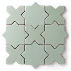 Kids Bath: Star & Cross tile shapes in two contrasting colors