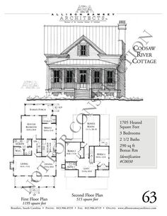 images about Guest Cottages on Pinterest   River cottage    Coosaw River Cottage   Allison Ramsey Architects   House Plans in All Styles for