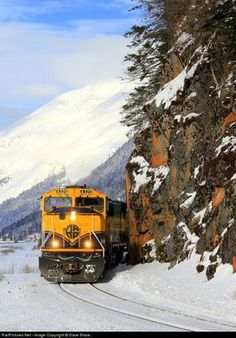 High quality photograph of Alaska Railroad EMD # ARR 4320 at North of Portage, Alaska, USA. Great Place To Work, Great Places, Places To Go, Hampshire, Wyoming, Alaska Railroad, Iowa, Diesel, Train Truck
