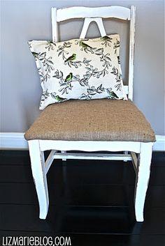 Burlap chair idea