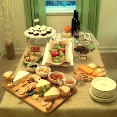 wine and cheese party.