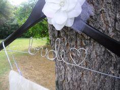 Custom made hanger, Wedding dress hanger,